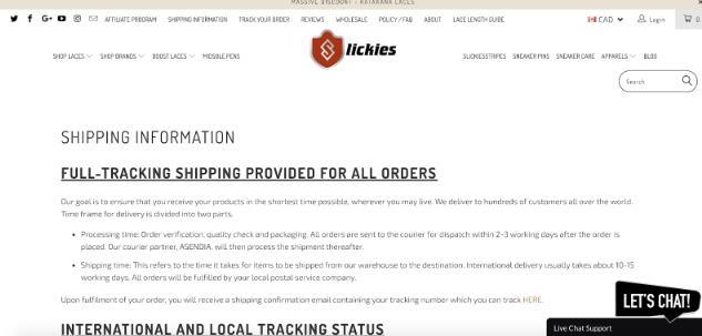 Slickies新加坡航运选择Shopify