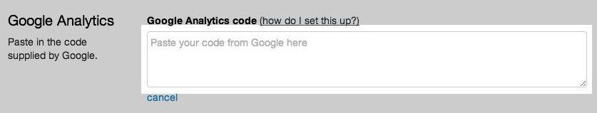 复制粘贴google analytics 代码